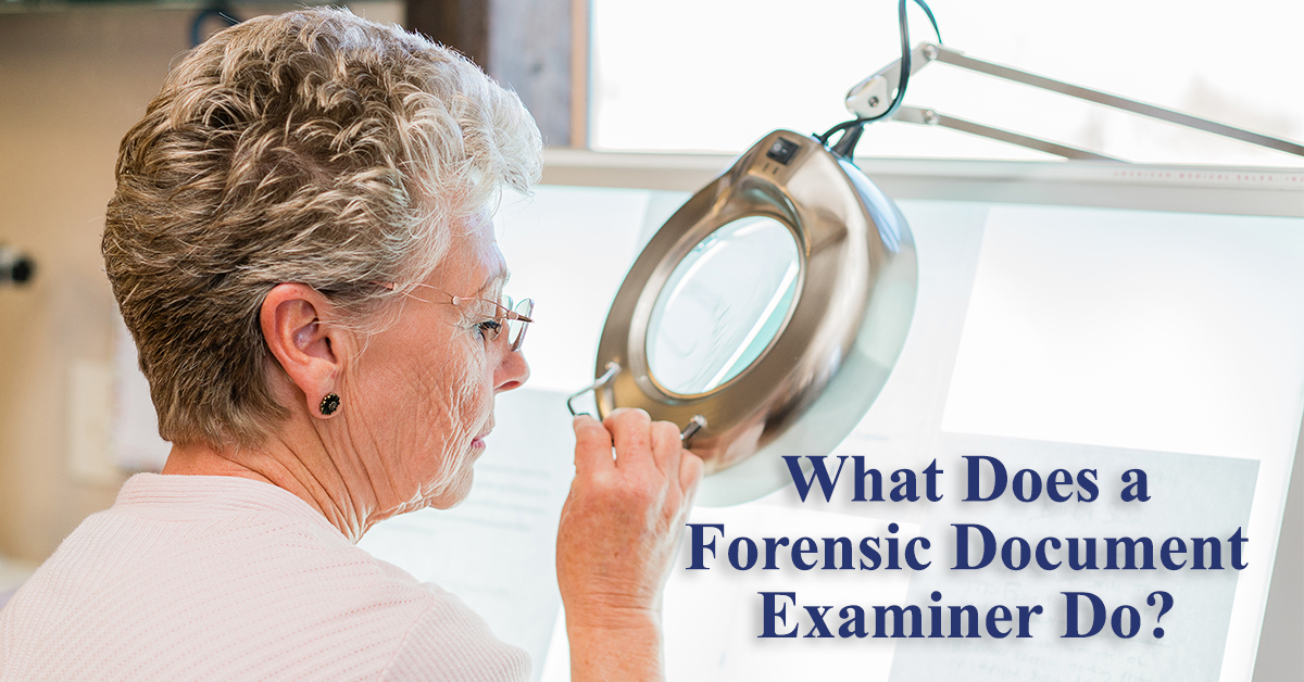 What Does A Forensic Document Examiner Do Learn More Here