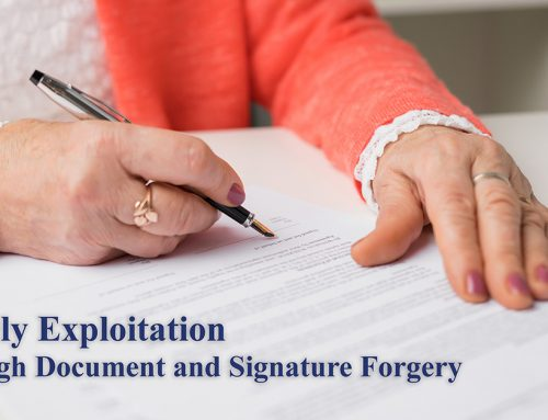 Elderly Exploitation through Document and Signature Forgery