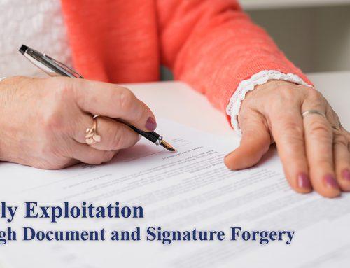 Elderly Exploitation through Document and Signature Forgery
